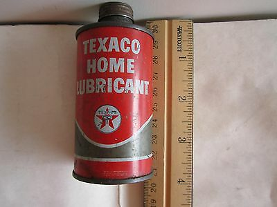 "2 = 1+1 TEXACO HOME LUBRICANT OIL CANS: 4""H x 2""W + 3.5""H x 1.75""D  AS PHOTOS!"