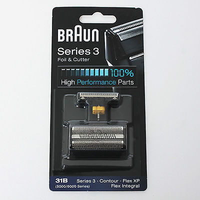 BRAUN Mens Shaver Foil & Cutter 31B 5000 6000 Series 3 Contour Flex XP Integral