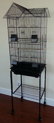 New Tall Cockatiel Parakeet Finch Canary Bird Cage With Black Stand 197