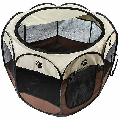 Soft Folding Pet Playpen Cage Tent Kennel Exercise Crate Alternative Portable