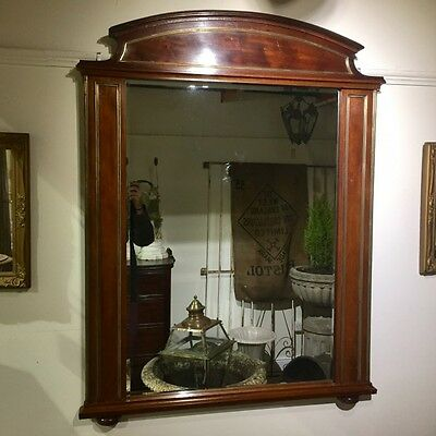 FRENCH MAHOGANY AND BRASS MOUNTED MIRROR    Ref a14626