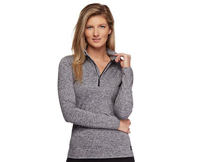 Bonds Sport Women's Long Sleeve Half Zip Jacket - Black