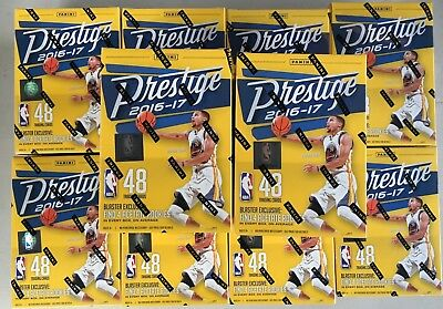 10 Box Lot 2016-17 Panini Prestige Basketball Factory Sealed Blaster w/ Acetate