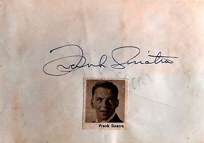 Abbott & Costello .  Frank Sinatra .  Genuine Autographs