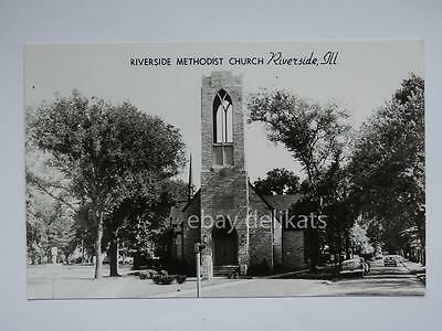 RIVERSIDE ILL Illinois Methodist Church USA old postacard