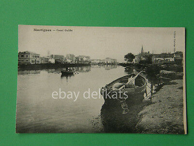 MARTIGUES Canal Galifet postcard France