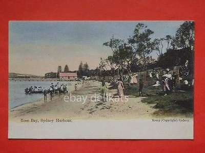 AUSTRALIA Sydney Harbour Rose Bay Beach old postcard Kerry