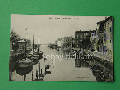 MARTIGUES Canal de St. Sebastien old postcard France
