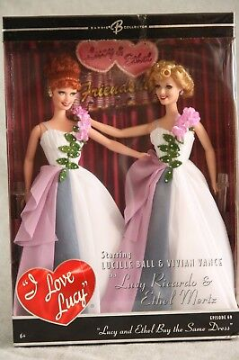 I LOVE LUCY and Ethel Buy the Same Dress DOLL Ricardo Mertz Ball Vance Ep 69 NIB
