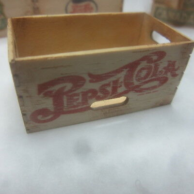 1/12 scale Dolls House Wooden Crate  Pepsi Cola  British made  DHD511