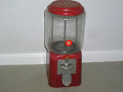 Vintage A & A 1 Cent Gumball Machine