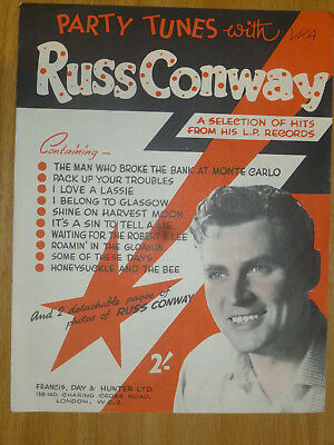 RUSS CONWAY  sheet music PARTY TUNES