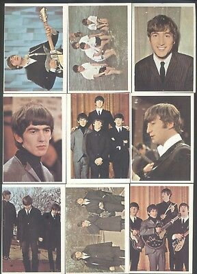 1964 Topps Beatles Color Cards, 17 different cards