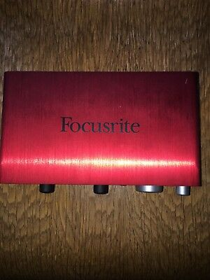 Focusrite Scarlett 2i2 USB 2 channel portable external Audio Interface