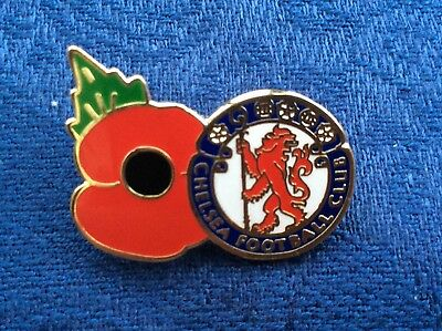 Chelsea Poppy badge blue and red