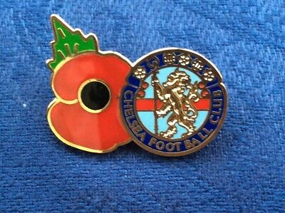 Chelsea Poppy badge blue, sky and red