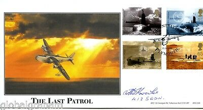 2001 Submarines Great Britain Bhc Official Fdc Signed Raf Flt Sgt Arthur Knowles