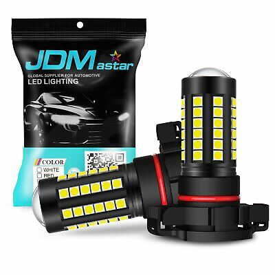 JDM ASTAR 2x 5000lm 5202 5201 Super Bright Xenon White LED Bulbs DRL Fog Lights