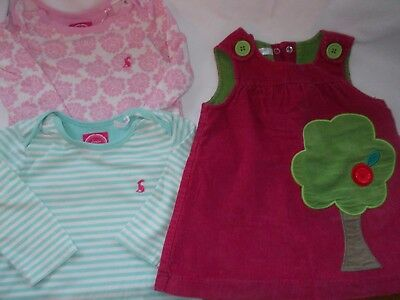 Baby Girls Baby Boden & Joules Bundle Of 3 Items Size Age 3-6 Months Gorgeous