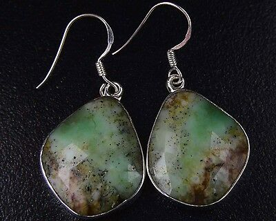 OJ-0074 Natural Ruby Zoisite Gems Faceted Solid 925 Sterling Silver 37Ct Earring