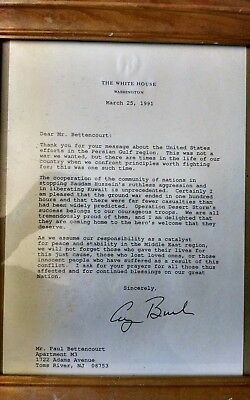 Letter signed by President George Bush 1991