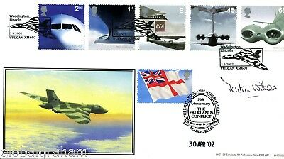 2002 Airliner Great Britain Bhc Official Fdc Signed Raf Pilot Martin Withers