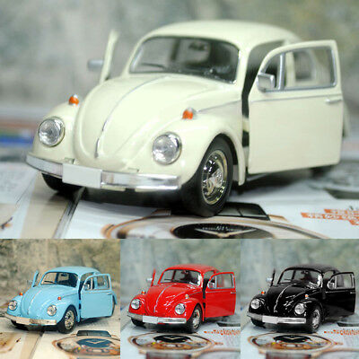 Vintage Beetle Diecast Pull Back Car Model Toy for Children Gift Decor Witty