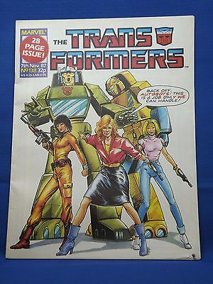 Marvel The Transformers UK Weekly Comic #138 7th Nov 1987