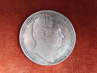 King William lV 1836 Crown Coin (reproduction).