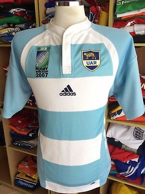 Rugby Shirt Argentina 2007 (M) Home World Cup Adidas Jersey Maglia Camiseta
