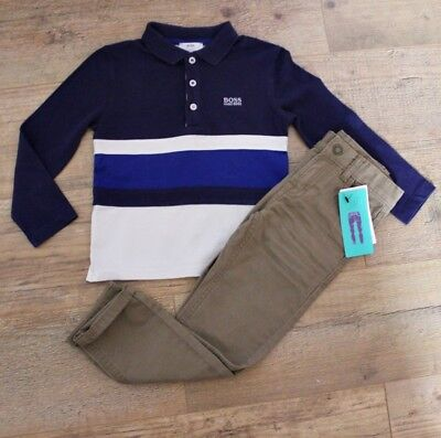 Hugo Boss Marks & Spencer Boys Bundle Outfit Polo Top Shirt Jeans Age 5-6 Y