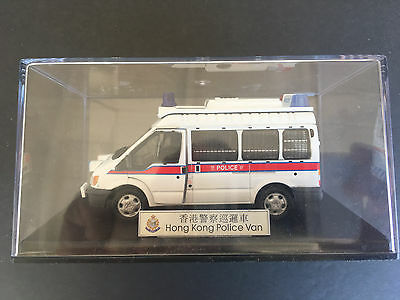 Collectible RHKP & Hong Kong Police Force Transit Police Van model 1:43, used