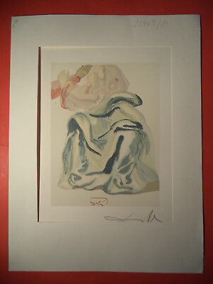 Salvador Dali, Divine Comed,y Rare German Hand Signed Lithograph  (8)