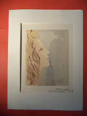 Salvador Dali, Divine Comed,y Rare German Hand Signed Lithograph  (5)