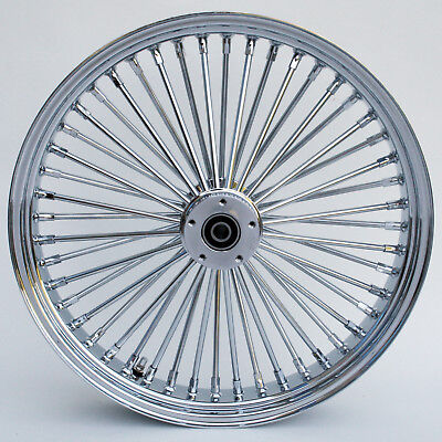 "Chrome Ultima 48 King Spoke 26"" x 3.5"" Front Dual Disc for Harley/Custom Models"
