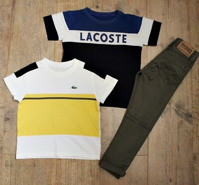 Lacoste Tommy Hilfiger Boys Bundle Outfit Skinny Jeans Top T-Shirt Age 3-4 Y