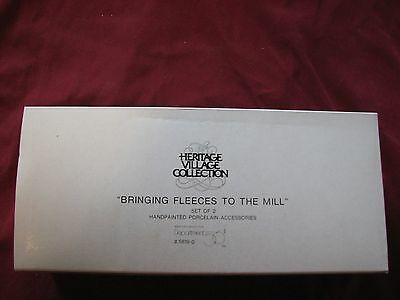 Dept 56 Dickens Village Series BRINGING FLEECES TO THE MILL #58190