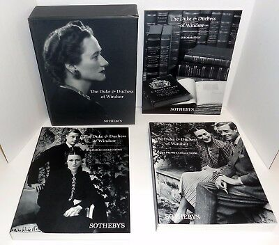 Sotheby's Duke And Duchess Of Windsor  Auction First Edition 1977 3 Box Set