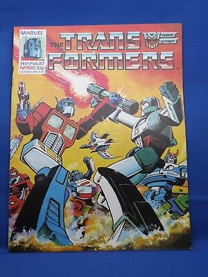 Marvel The Transformers UK Weekly Comic #100  14th Feb 1987