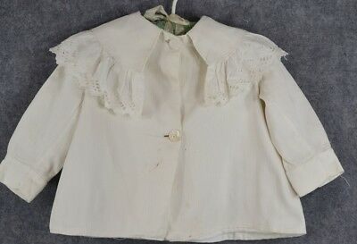 baby doll coat jacket white lace Christening Victorian antique original 1800