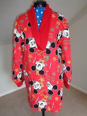 RETRO Vintage MICKEY MOUSE Red Jacket Disney polka dot inside RARE A14