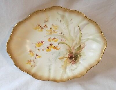 Antique Doulton Burslem Hand Painted Orchids 4 Footed Bowl.david Dewsbury.signed