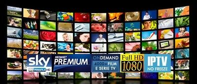 IPTV 1 MESE HD FULLHD SmartTV AndroidBOX PC VLC TABLET ENIGMA MAG