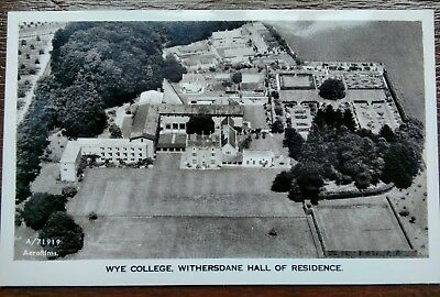 Wye College Aerial View Aero Pictorial Photo Postcard
