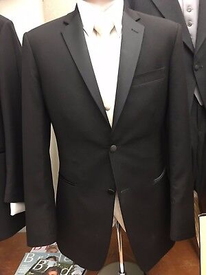 Ike Behar Slim Fit 2-Button Super 120's Wool notch Lapel Side Vented Tuxedo Set