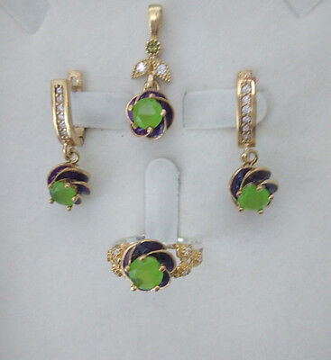 925 Sterling Silver Handmade Jewelry Pale Green Chalcedony Accented Lady Sets