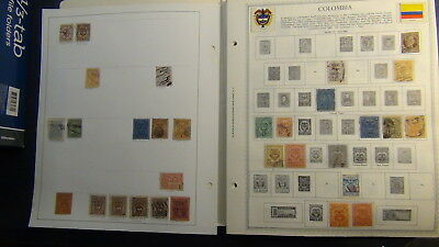 Colombia stamp collection on Minkus pages to '90