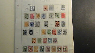 Finland 2...  classics stamp collection on Scott Int'l  pages to 1970