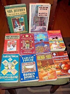 lot of 10 cozy murder mysteries women sleuths books mystery