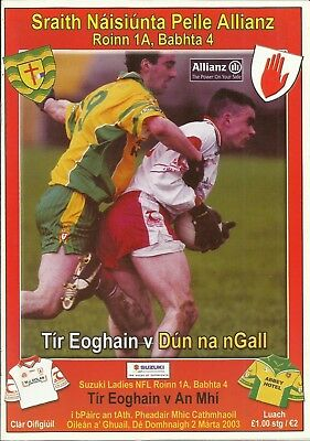 2.3.2003 TYRONE v DONEGAL, NFL Division 1A, Round 4, Coalisland!